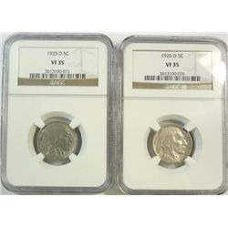 1925D-1926D Buffalo nickel NGC35