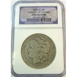 1878CC  Morgan $   NGC  circulated