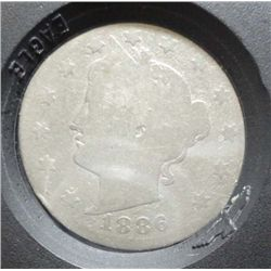 1886 LIBERTY NICKEL AG RARE