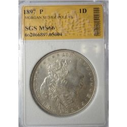 1897 MORGAN SILVER DOLLAR CHBU
