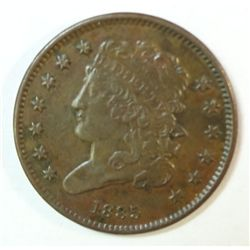 1835 half cent  XF45 near perfect color