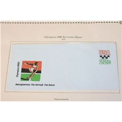 1980 Olympics Air Letter Sheet-Discus Thrower; US Commeratives