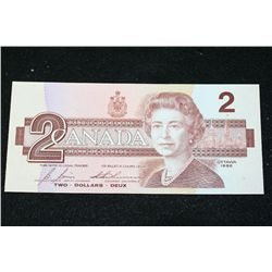 1986 Canada $2 Foreign Bank Note