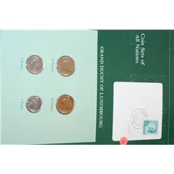 Grand Duchy of Luxembourg; Coin Sets of All Nations W/Stamp Dated 1984