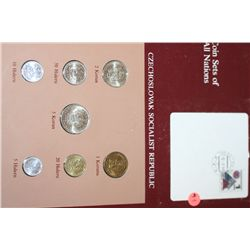 Czechoslovak Socialist Republic; Coin Set of All Nations W/Stamp Dated 1984