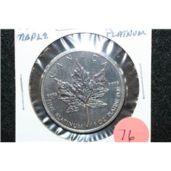 1991 Canada $50 Foreign Coin, 9995 Platinum 1 Oz.