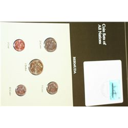 Bermuda; Coin Set of All Nations W/Stamp Dated 1992