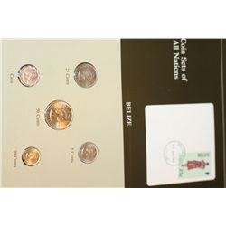 Belize; Coin Set of All Nations W/Stamp Dated 1986