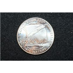 1987 US Constitution 200th Anniversary Commerative $1 Coin
