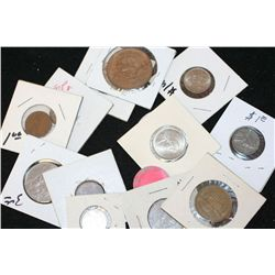Grab Bag of US Coin, Foreign Coin, Wooden Nickel, Token, Etc., Various Dates & Conditions, Lot of 15