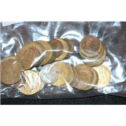 Grab Bag of US Coin, Foreign Coin, Wooden Nickel, Token, Etc., Various Dates & Conditions, Lot of 30
