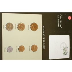 Republic of Finland; Coin Sets of All Nations W/Stamp Dated 1984