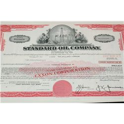 Standard Oil Co. Stock Certificate Dated 1977