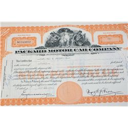 Packard Motor Co. Stock Certificate Dated 1954