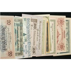 German Foreign Bank Note, Various Dates, Conditions & Denominations, Lot of 26
