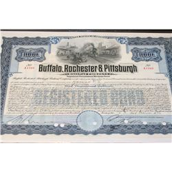 Buffalo, Rochester & Pittsburgh Railway Co. Stock Certificate Dated 1936