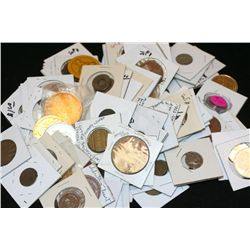 Grab Bag of US Coin, Foreign Coin, Wooden Nickel, Token, Etc., Various Dates, Conditions & Denominat