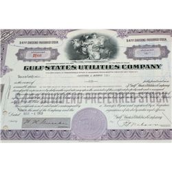 Gulf States Utilities Co. Stock Certificate Dated 1969