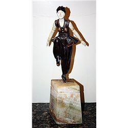 Signed Chiparus Bronze and Ivory - Oriental Dancer