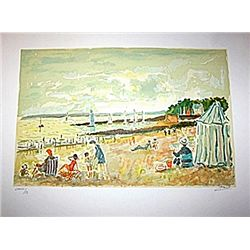 Sur La Plage - Signed Limited Edition Lithograph- Picot