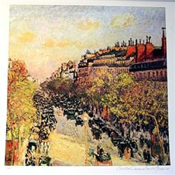 Limited Edition Pissaro- Boulevard Montmarte - Collection Domaine Pissaro