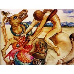 Salvador Dali Signed Limited Edition - St. George and the Dragon