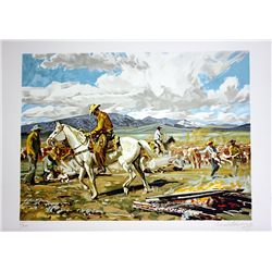 Conrad Schwiering Hand Signed and Numbered Lithograph - Daily Roper