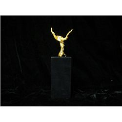 Dali 24K Gold Layered Bronze Sculpture- Melting Clock