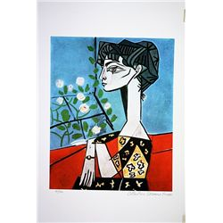 Picasso Limited Edition - Portrait Of Jacqueline - from Collection Domaine Picasso