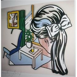 A Woman Contemplating a Yellow Cup by Roy Lichtenstein  Lithograph 