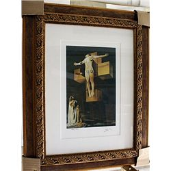 Salvador Dali Signed Limited Edition - Crucifixion (Corpus Hypercubus)