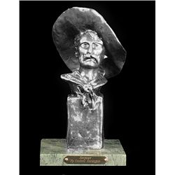 Original Fine Silver Sculpture - Sergeant by F. Remington
