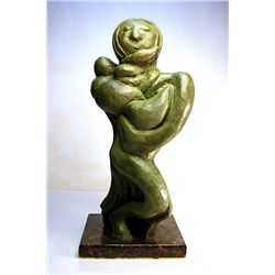 David Alfaro Siqueros  Original, limited Edition  Bronze - Woman With Child