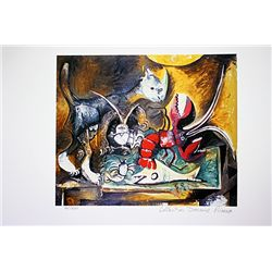 Picasso Limited Edition - Stil Life With Cat - from Collection Domaine Picasso