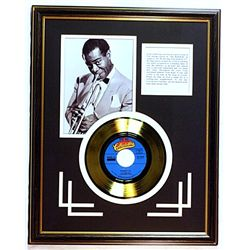Louis Armstrong  Giclee with Gold Record
