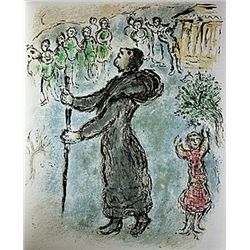 Ulysses Disguised as a Beggar by Chagall from the Odyssey Suite.