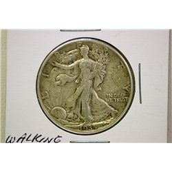 Walking Liberty .50 cents piece.
