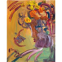 Peter Max Original Acrylic On Canvas - Adriel-