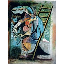 Limited Edition Picasso - Woman With Pigeons - Collection Domaine Picasso