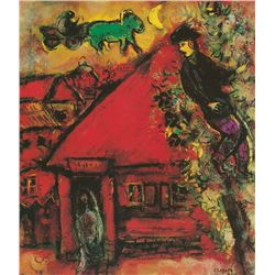 The Red House- Chagall - Limited Edition on Canvas