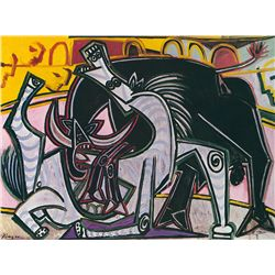 Bullfight III- Picasso- Limited Edition on Canvas