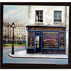 Renoux Hand Signed Limited Edition Lithograph   Boulangerie