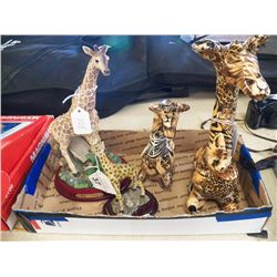 Misc. Lot of Porcelain Giraffe's