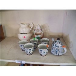 Misc. Lot of Wall Plaques & a Tea Set