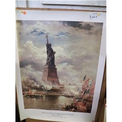 Statue of Liberty Print approx 22  x 30
