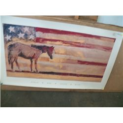Patriotic Horse Print