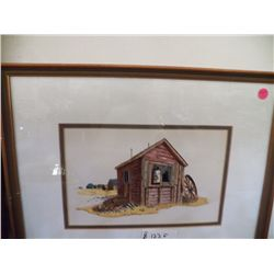 Beautiful Framed Farm House Print