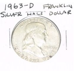 1963-D Franklin SILVER Half Dollar *PLEASE LOOK AT PICTURE TO DETERMINE GRADE - NICE COIN*!!