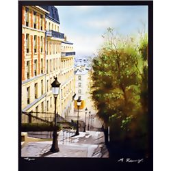 Renoux Hand Signed Limited Edition Lithograph   Down Hill