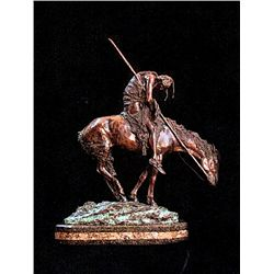 Bronze Sculpture - End of the Trail by Fraiser